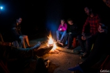 Camp fire after dinner